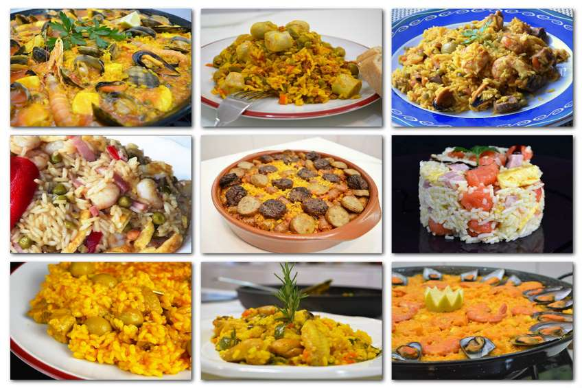 receta para hacer paella y otros tipos de arroz