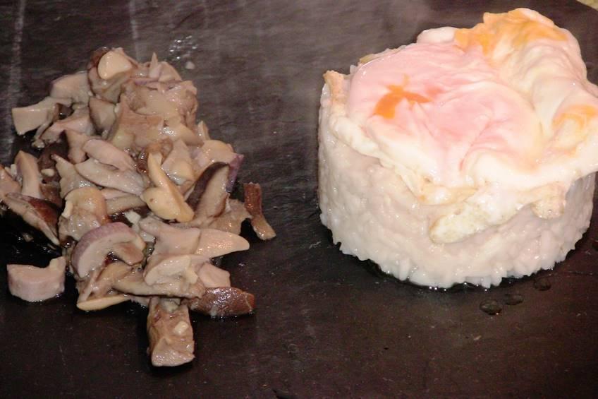 "Arroz blanco con setas ""Eryngii"", receta casera"