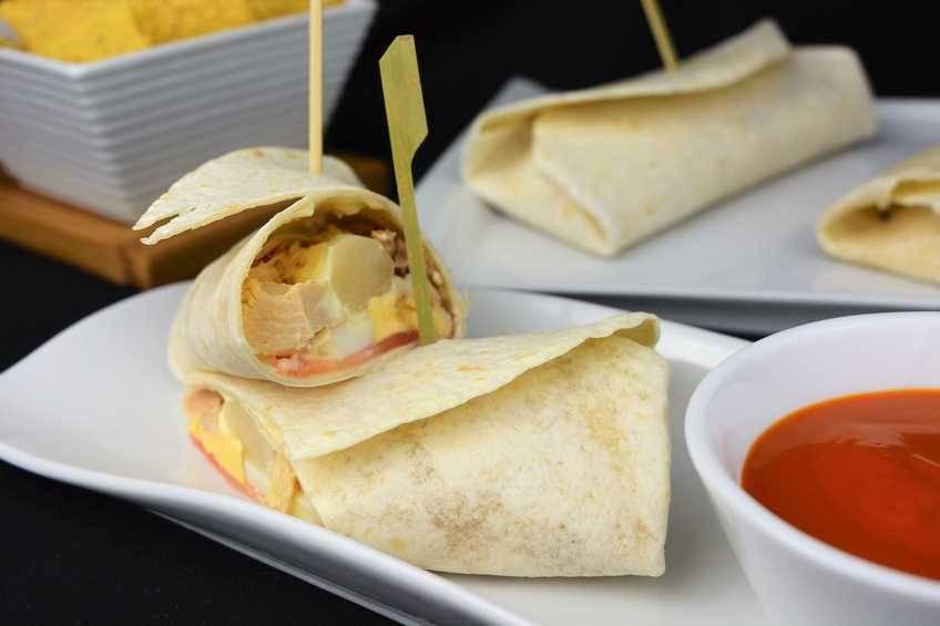 Burrito de verduras con atún