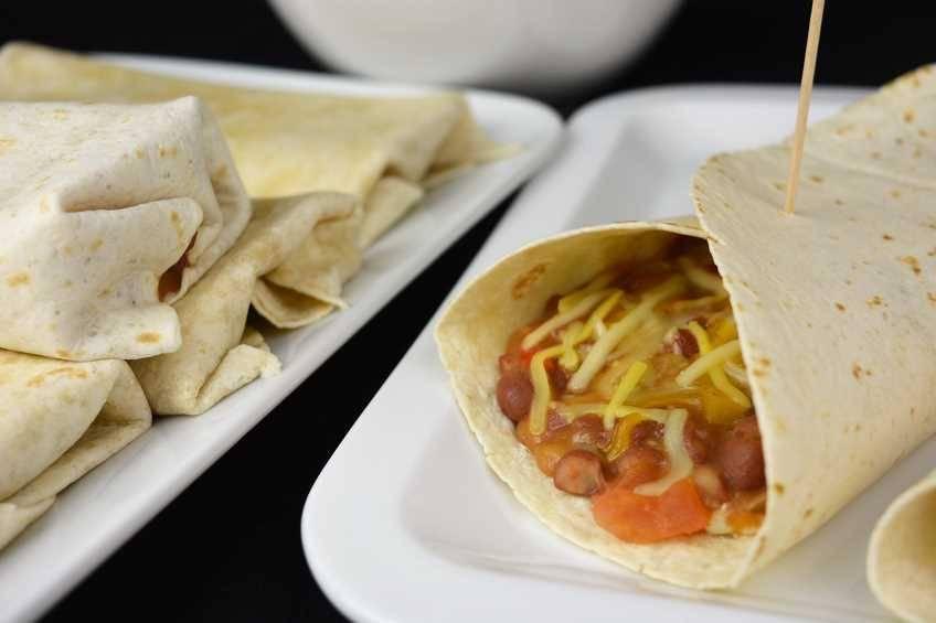 Burritos con caparronas de Anguiano