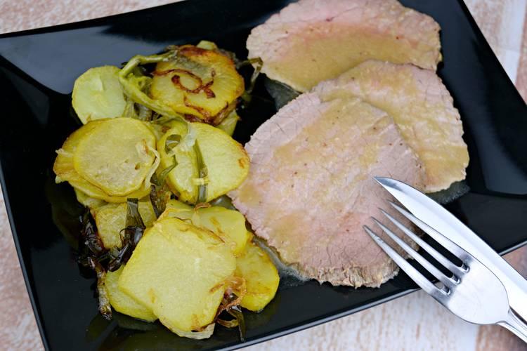 Carne asada al horno con miel y mostaza