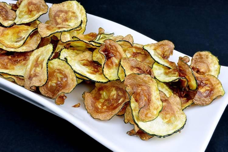 Chips de calabacín muy crujientes