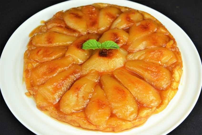 Cómo hacer tarta tatín de pera
