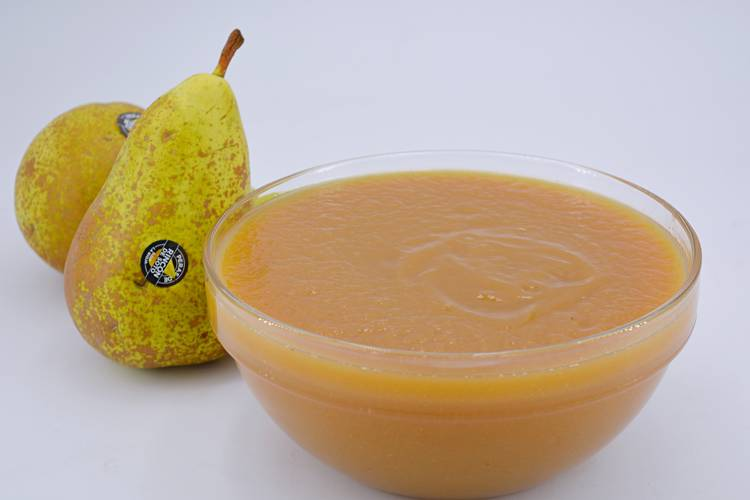 Compota de pera suave y cremosa