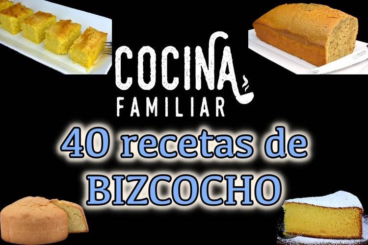 Descarga GRATIS 40 recetas de bizcocho