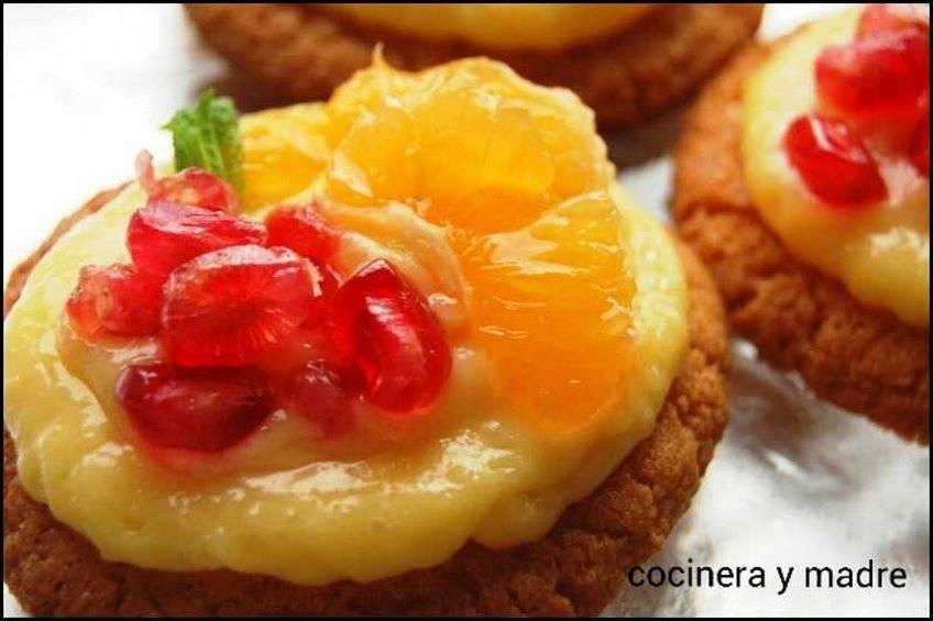 Galletas con crema de mandarina