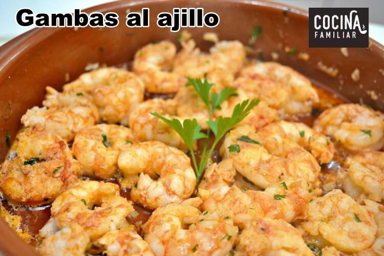 Gambas al ajillo receta casera for Javier romero cocina
