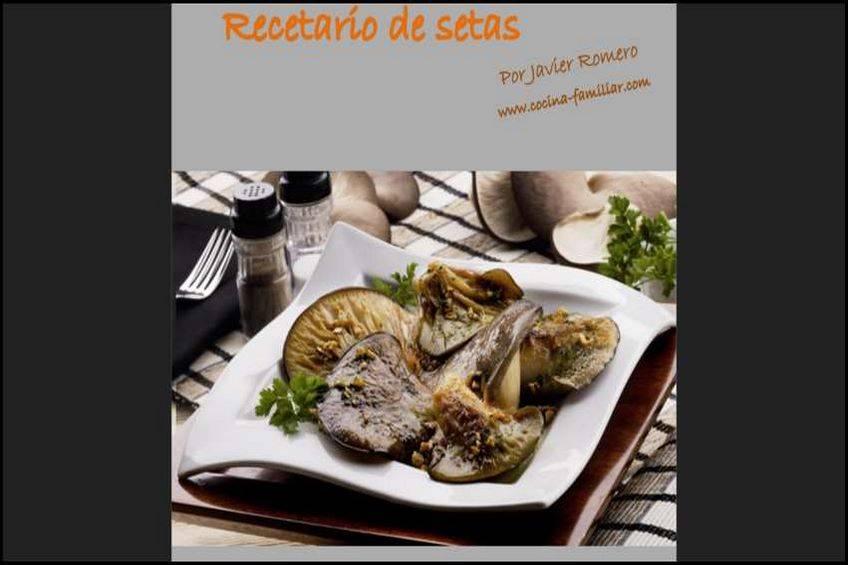 Libro gratis de recetas  con setas