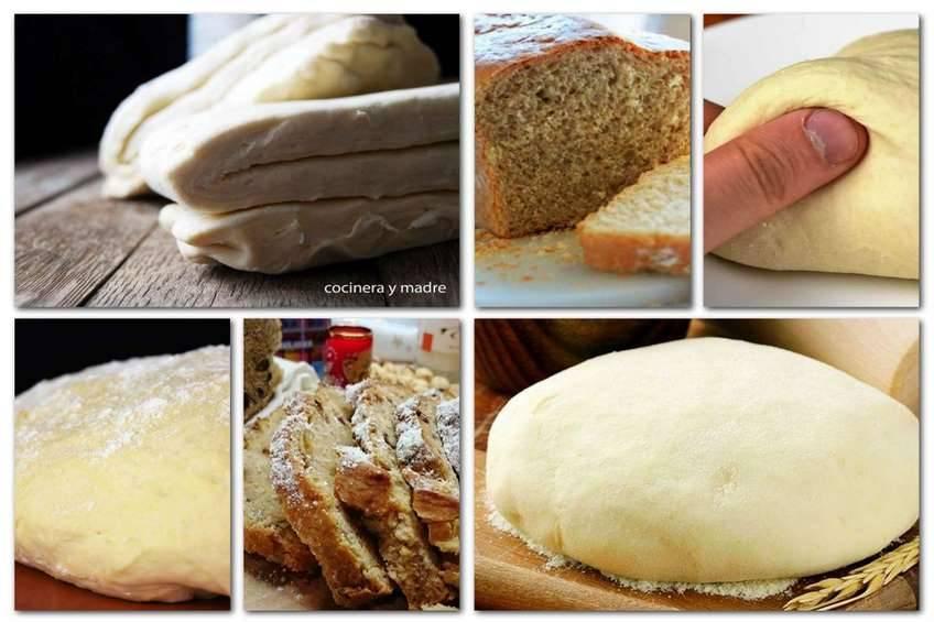 Recetas de masa casera para hacer hojaldre, pan y pizza