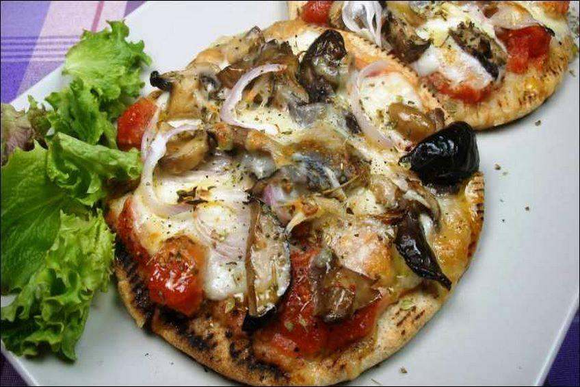 Minipizza de verduras, receta casera