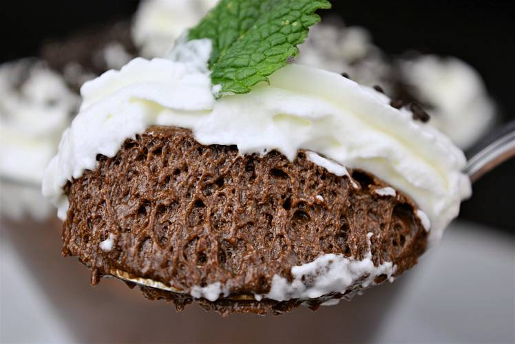 Mousse de chocolate muy fácil