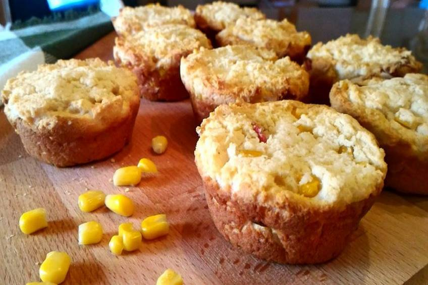 Muffins de maíz y bacon