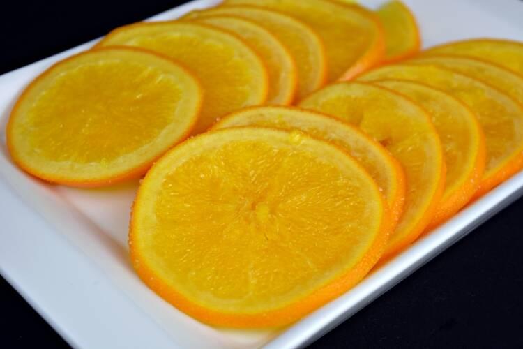 Naranja confitada para el roscón de reyes