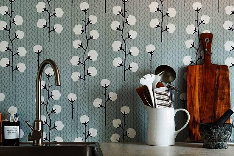 Nuevo look para la cocina personaliza con papel pintado