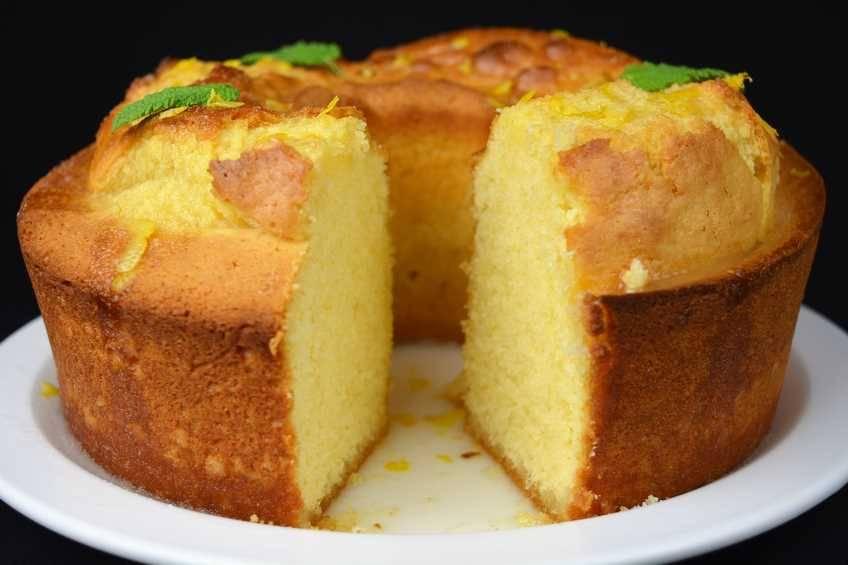 Pastel de lim n con glaseado - Bizcocho de limon esponjoso ...