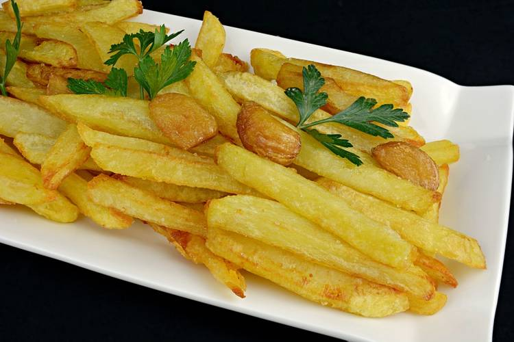 Patatas fritas muy crujientes