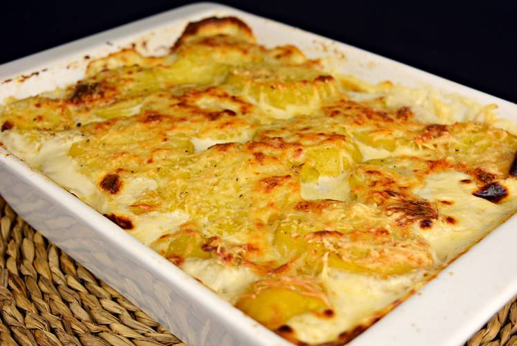 Patatas gratinadas Dauphinoise