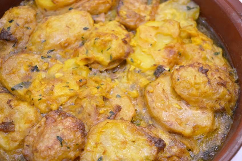 Patatas rebozadas también llamadas patatas a la importancia