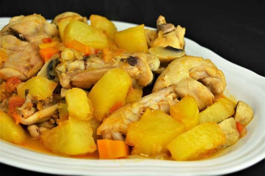 Pollo y del verduras dieta
