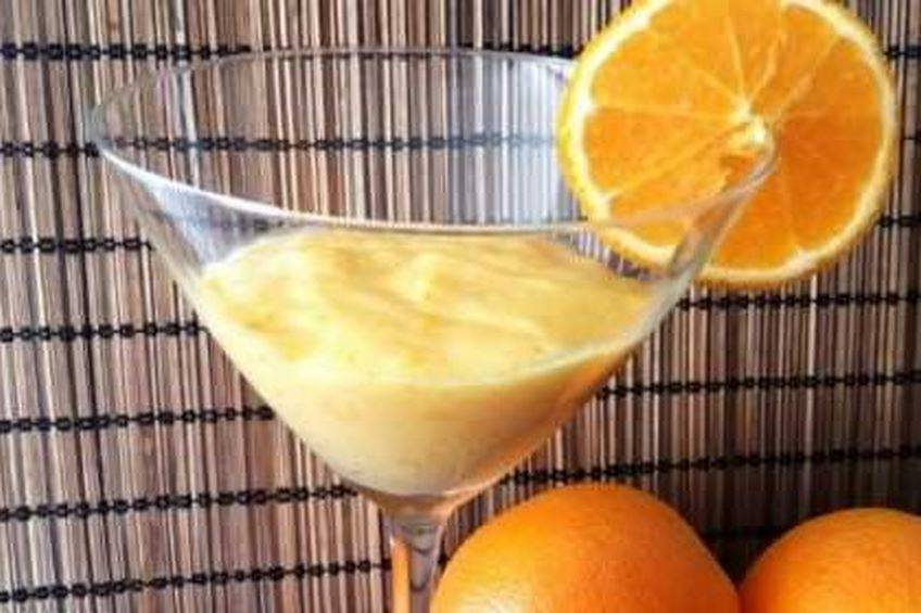 Postre cremoso y fácil de naranja