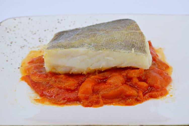 Receta de bacalao con pimientos asados