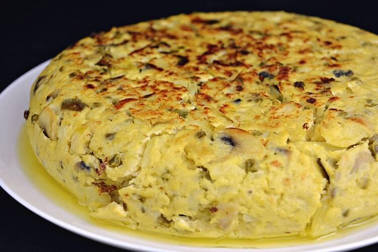 Receta de tortilla de patata campera