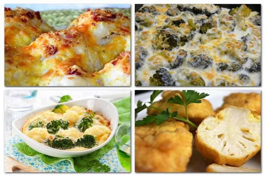 Recetas de coliflor y brócoli