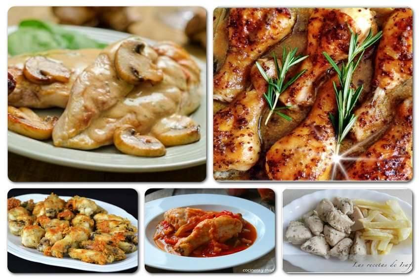 Recetas de pollo, 5 formas de cocinarlo