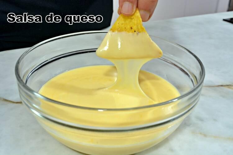 Salsa de queso para nachos, receta casera