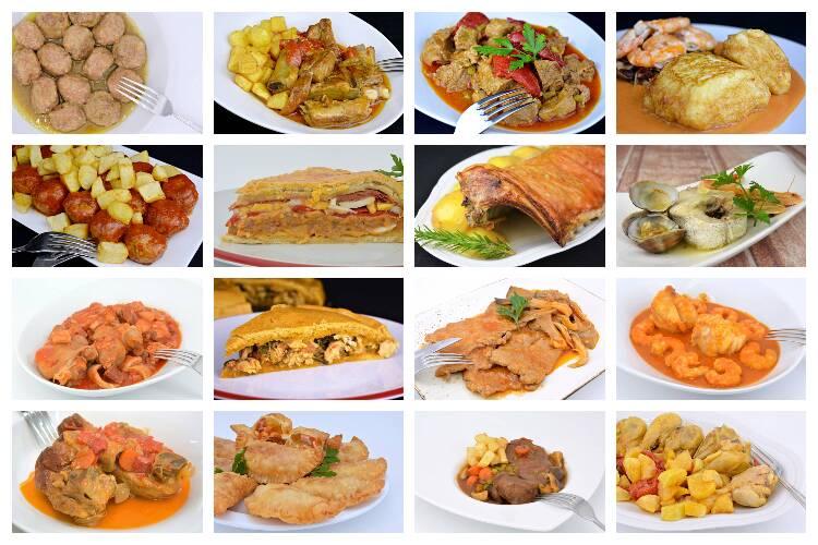 Segundos platos para el menú de toda la semana