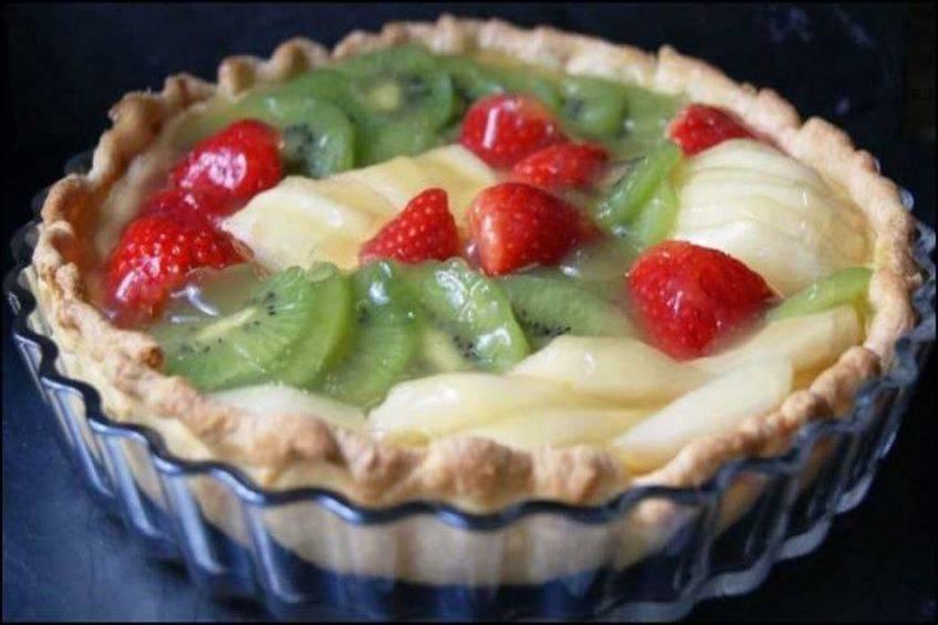 Tarta de frutas o quiche dulce