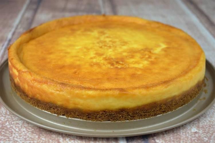 Tarta de queso mascarpone al horno, tarta casera fácil para cumpleaños
