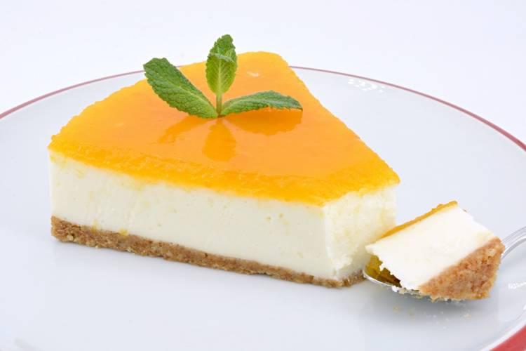 Tarta de queso y albaricoque sin horno