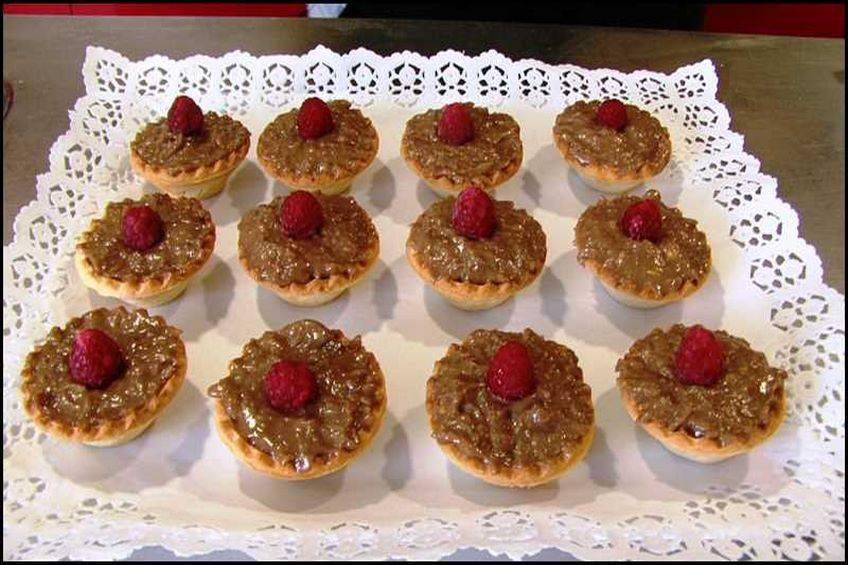 Tartaletas de chocolate con frambuesas