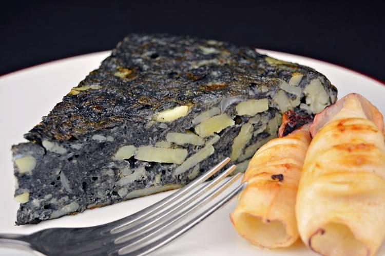 Tortilla de patata negra