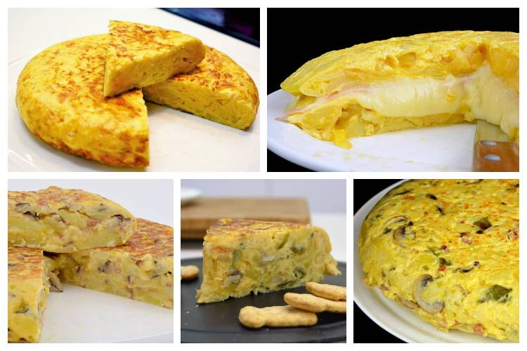 Tortilla de patata, variantes para una fiesta