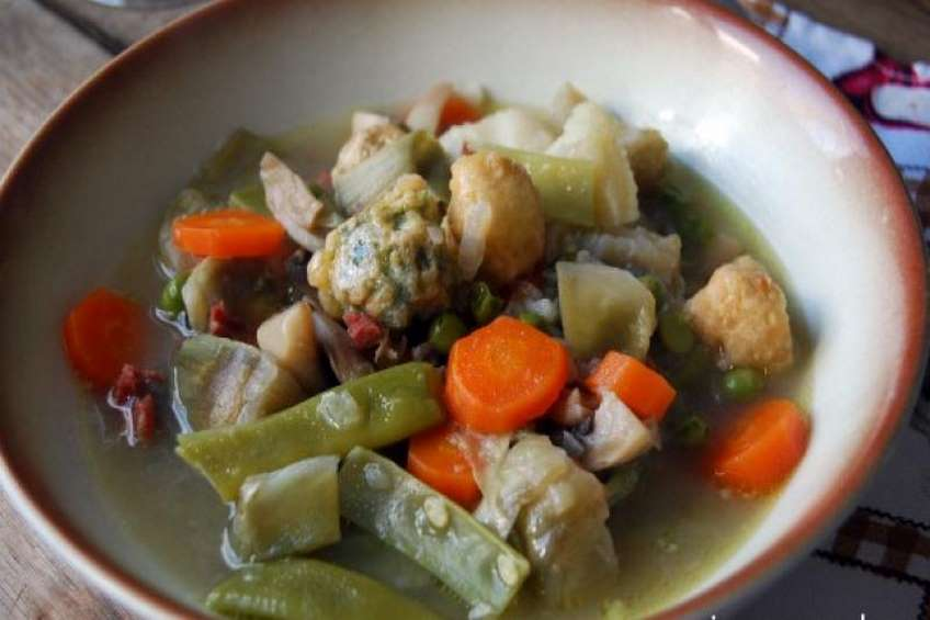 Men semanal semana n mero dos - Menestra de verduras en texturas ...